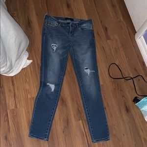 Aeropostale High Wasted Ankle Jeggings with Rips